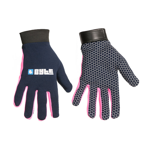 BYTE SNUG FIT GLOVES NAVY PINK