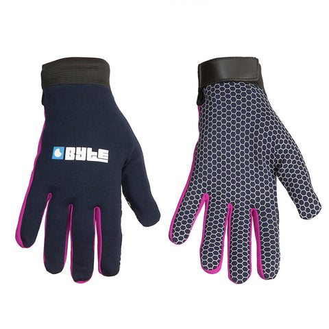 BYTE SNUGFIT GLOVES NAVY PURPLE