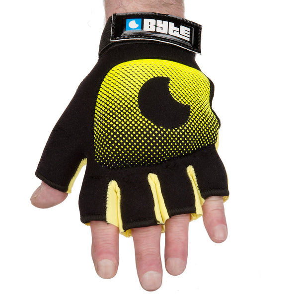 BYTE LEFT HAND KNUCKLE GLOVE BLACK YELLOW