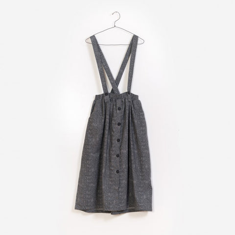 Printed Woven Dungaree Skirt, voksen
