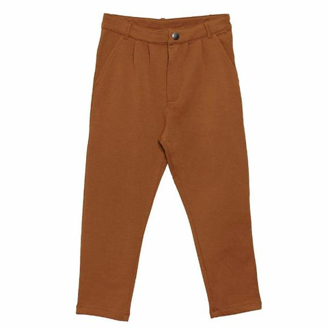 Everyday Pants, Brown, økologisk bomuld - WIIKWAM
