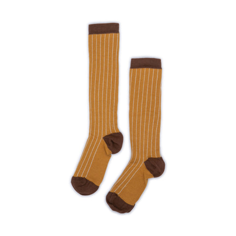 Gold Stripe Knee Socks - WIIKWAM