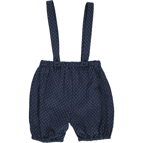 Romper, MARY, blue woven dots - WIIKWAM