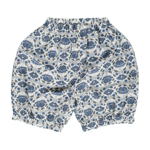 Bloomers, ELENA, blue/grey flower print - WIIKWAM
