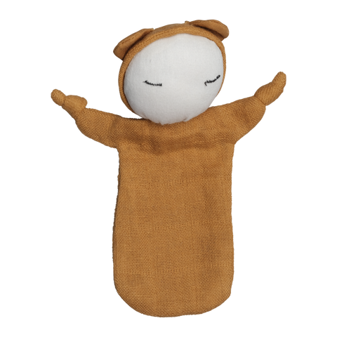 Cuddle doll, økologisk bomuld, orchre - WIIKWAM