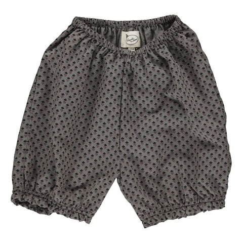 Bloomers, Elena, grey with black flower print