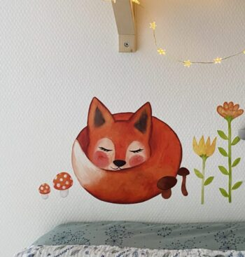 Wallsticker med Ræven Sally - WIIKWAM