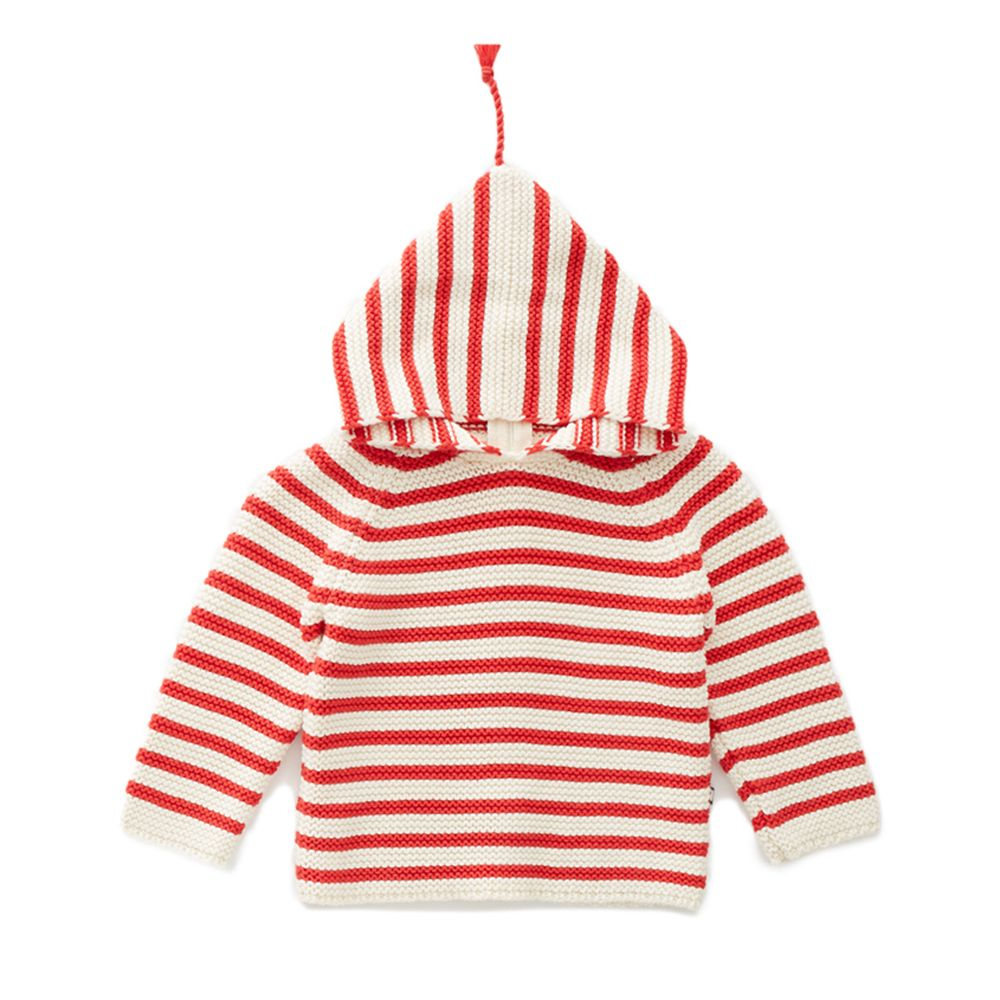 Single layer Hoodie Red/White - WIIKWAM