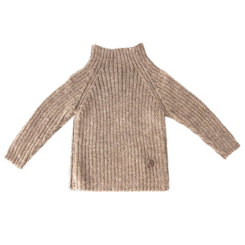 Alpaca rib sweater, pebble - WIIKWAM