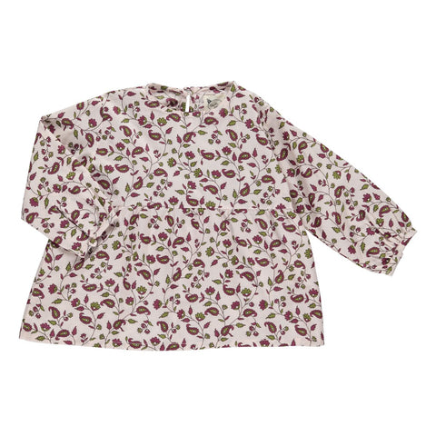 Skjorte, Serafine, burgundy flower print
