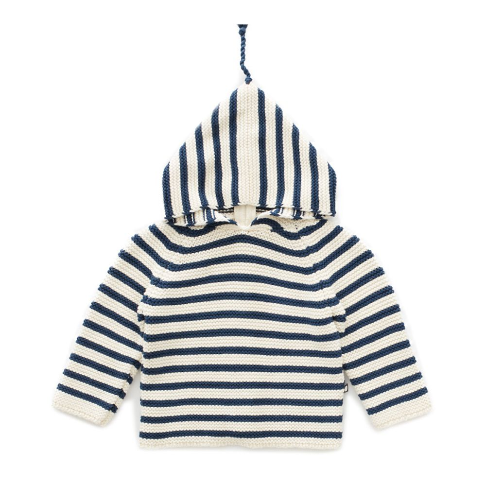 Single layer Hoodie Blue/White - WIIKWAM