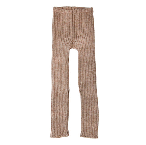 Alpaca rib leggings, pebble - WIIKWAM