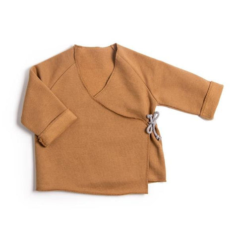 Wrap cardigan, Terracotta