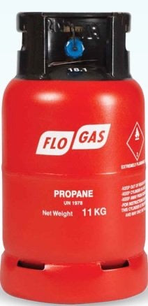 11kg  Bottled Screw On Propane Gas