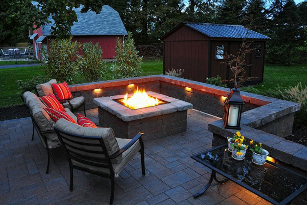 How To Build A Square Fire Pit With Pavers?