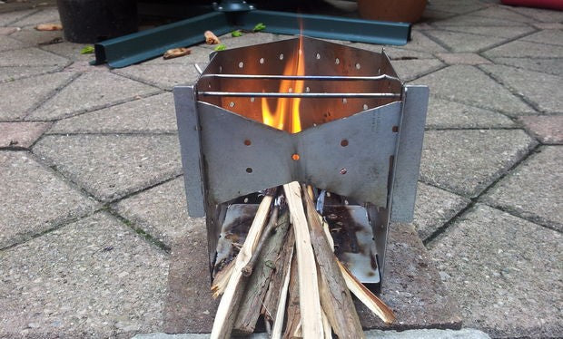 Collapsible wood stoves