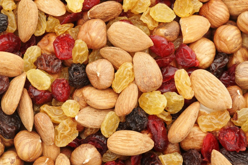 Dried fruit, nuts and trail mix
