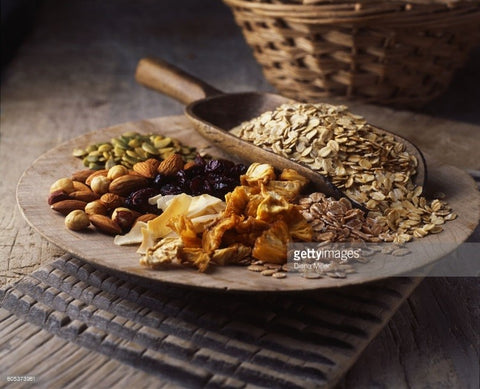 Dried fruits with oats