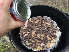 Dutch Oven Seven Layer Brownie
