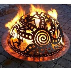 Fire pit spark cover