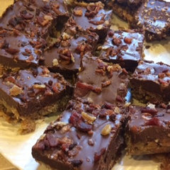 Peanut butter bacon chocolate bars