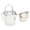 Backpacking Cook Set - Stainless Steel Kettle Pot with 2 Insulated Bowls