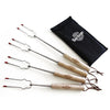 Telescoping Marshmallow Roasting Sticks With Carry Bag