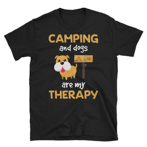 Camping And Dog Are My Therapy T-Shirt