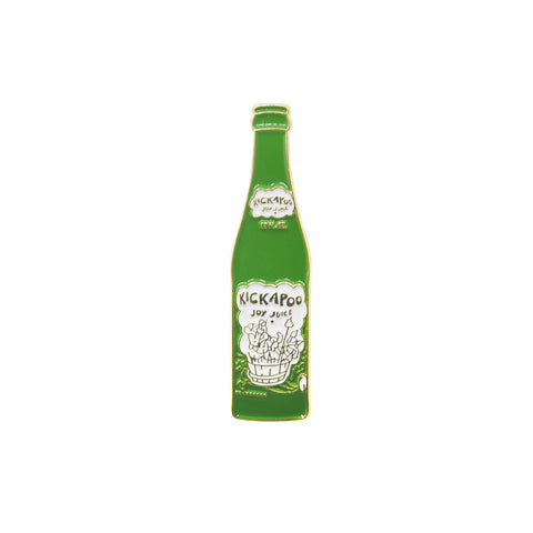 Kickapoo Joy Juice Drink - Vintage Glass Bottle Pin - PINDEMIC  - 1