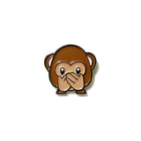 See-hear-speak no evil Monkey Emoji - PINDEMIC  - 4