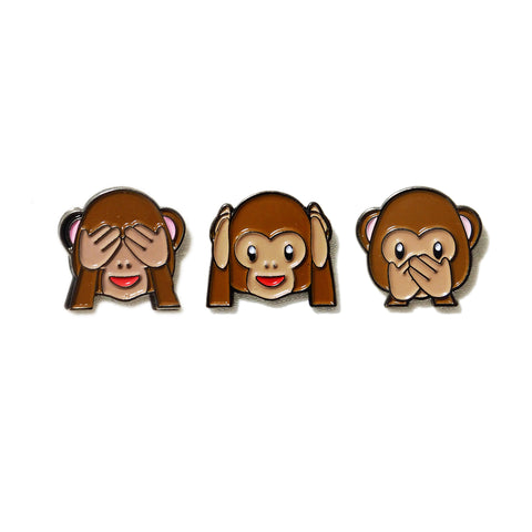 See-hear-speak no evil Monkey Emoji - PINDEMIC  - 1