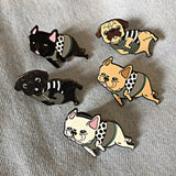 Collab Pin: PINDEMIC x Oh Pop Dog - Lazy French Bull Dog