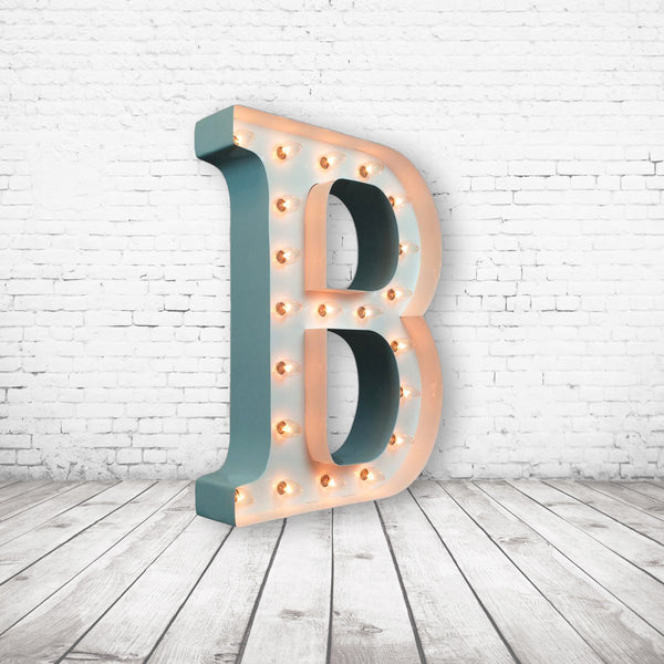 "9"" (B) WOOD MARQUEE LETTER"