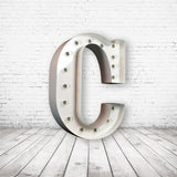 "9"" (C) METAL MARQUEE LIGHT UP LETTER"
