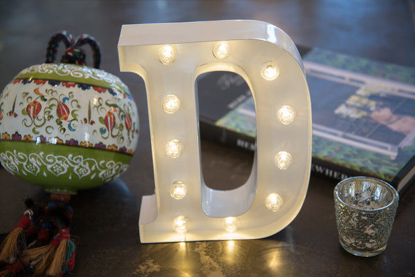 "9"" (D) WOOD MARQUEE LETTER"