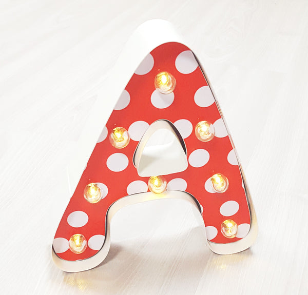 "9"" (A) KIDS METAL MARQUEE LIGHT UP LETTER"