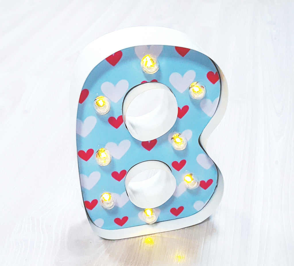 "9"" (B) KIDS METAL MARQUEE LIGHT UP LETTER"