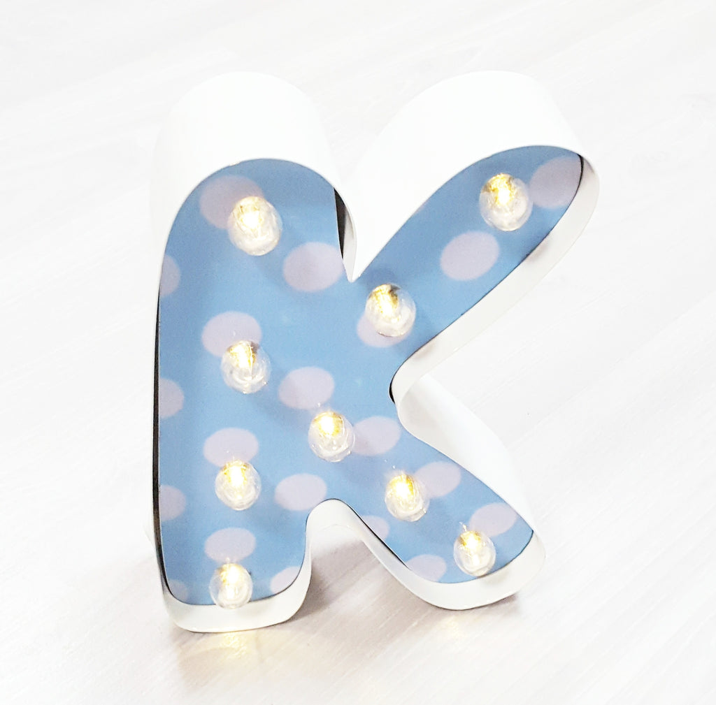 "9"" (K) KIDS METAL MARQUEE LIGHT UP LETTER"