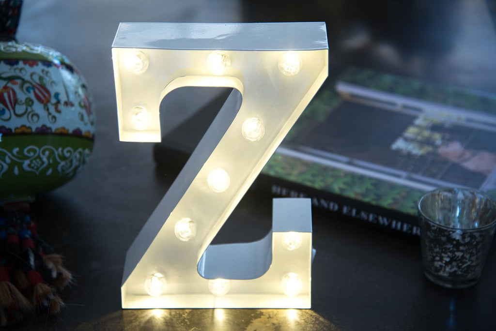 "9"" (Z) METAL MARQUEE LIGHT UP LETTER"
