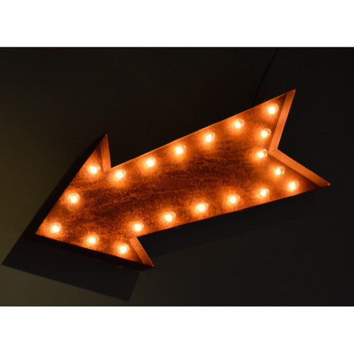 "12"" ARROW ICON SYMBOL VINTAGE MARQUEE LIGHT"