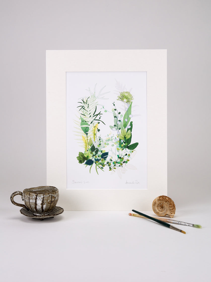 Blewcoat Vines Print