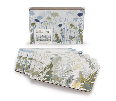 Cornflower / Fern Set of Placemats