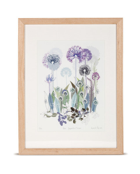 Plum Agapanthus Thicket Limited Edition Print