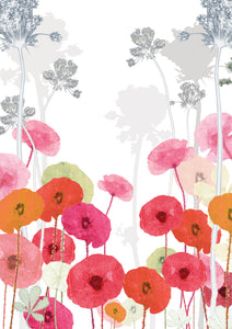 Poppy Field 'Post it On' Card