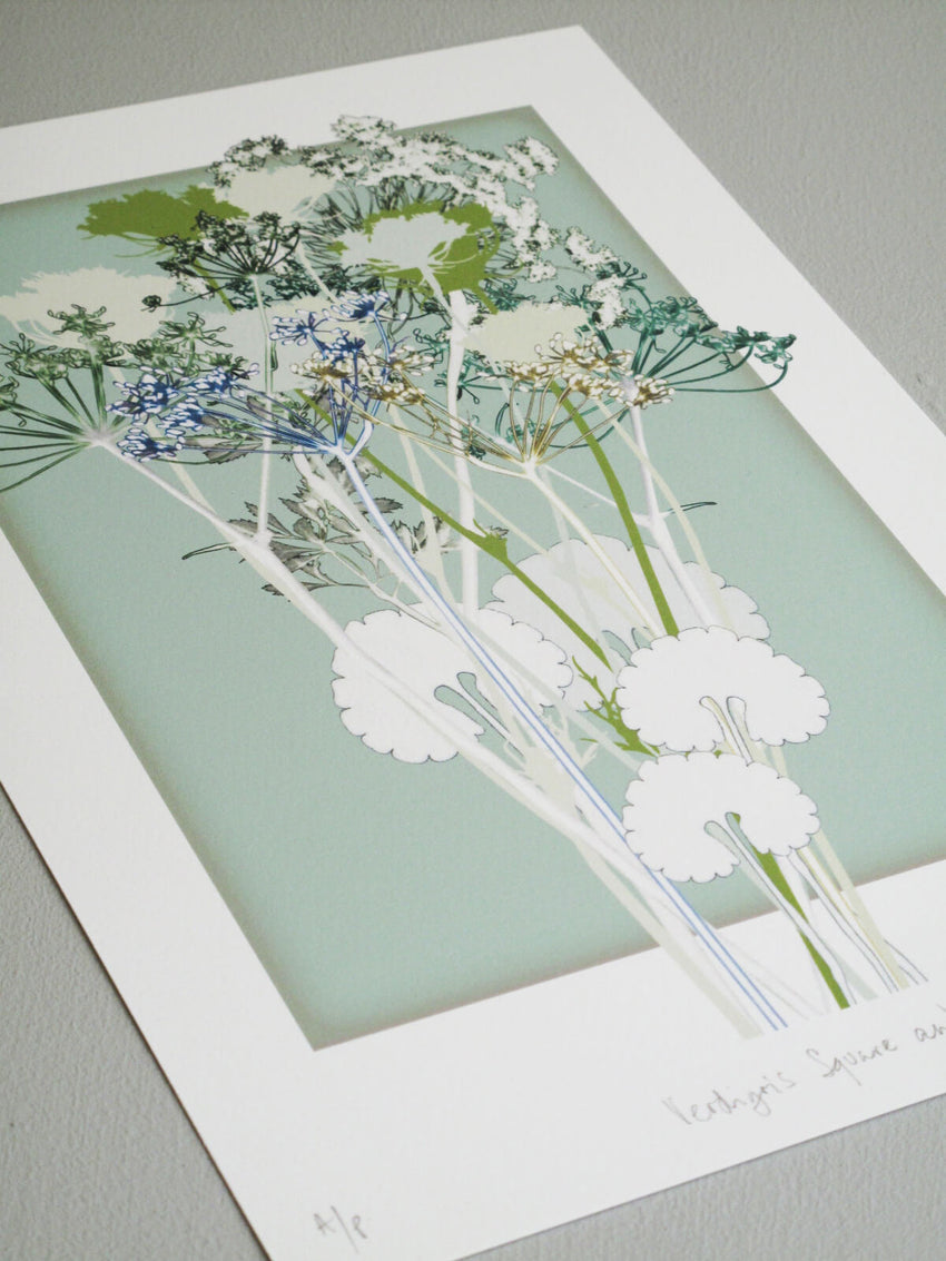 Verdigris Square and Dill Print