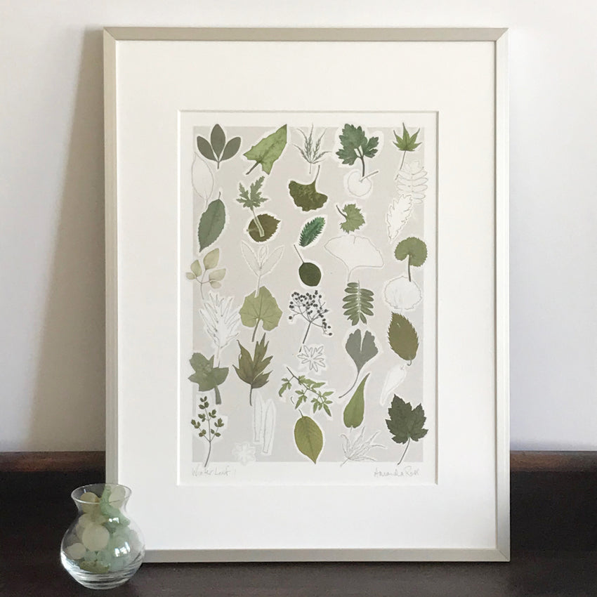 Winter Leaf Print 1
