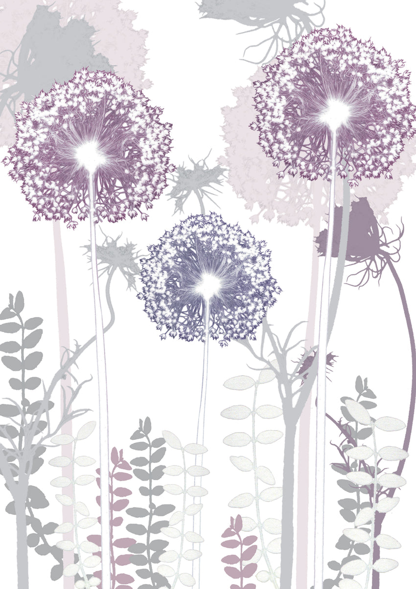 "Allium ' Card to Bookmark"" Card"