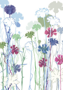 Cornflower Field Card
