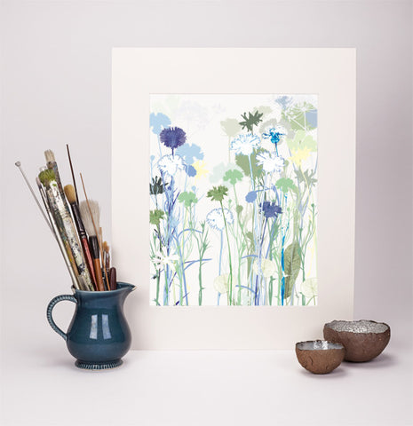 Cornflowers Reproduction Print