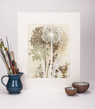 Gold Cowparsley Reproduction Print
